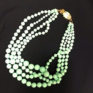 J-Crew Factory Teal Beatle multi-strand necklace